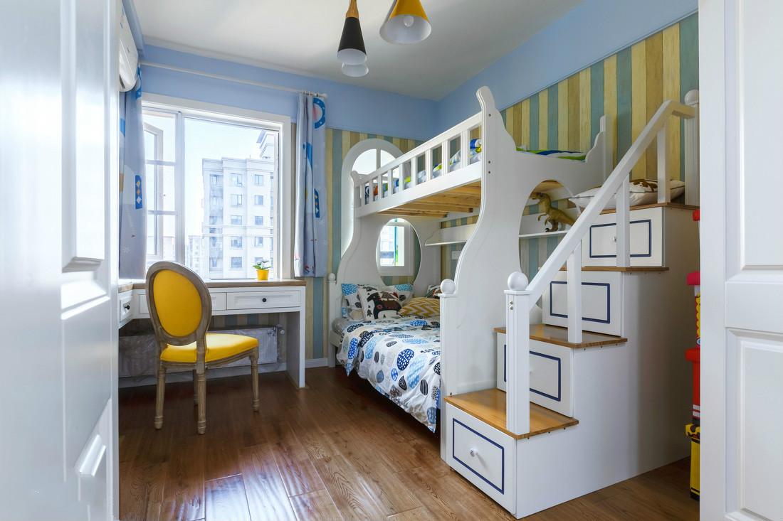 儿童房主要为小朋友考虑考虑。梦幻的儿童房会博得小朋友们的喜爱。