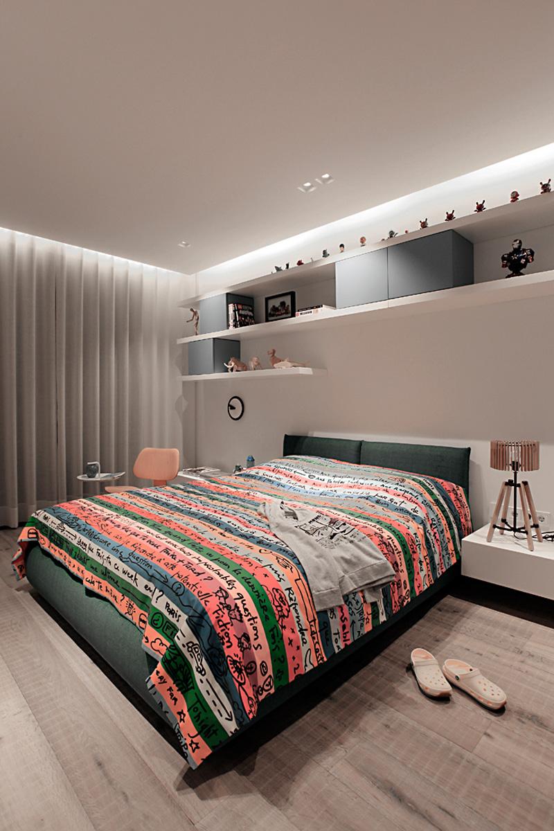 次卧就比较简单了 ,简单舒服的设计,休息的最佳场所