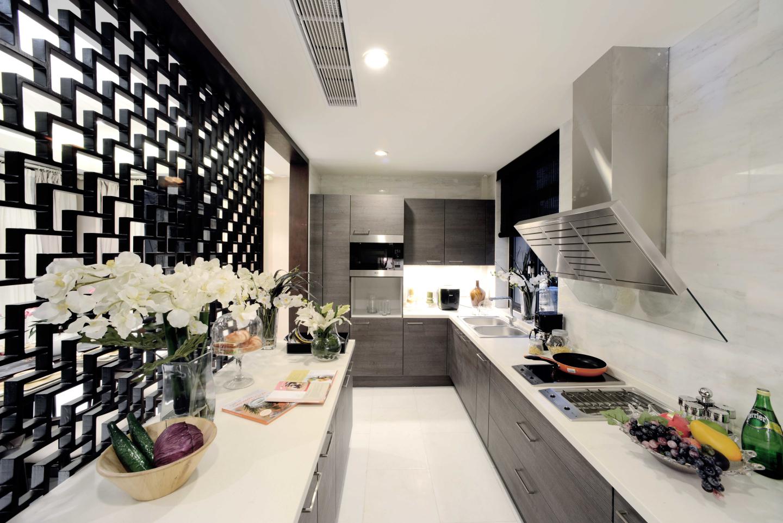 在造型、材质、家具、配饰等各种不同空间元素的运用上巧妙融合。