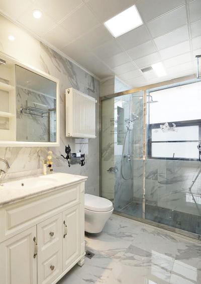 干湿分离的卫生间保证了干净整洁。
