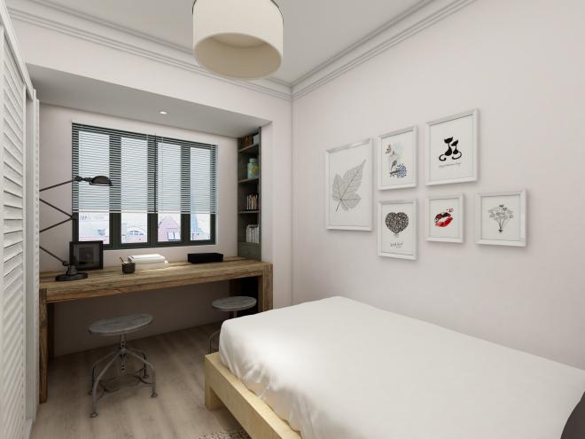 简单的几幅简笔画,让房间看起来生动许多,还可随时更换。
