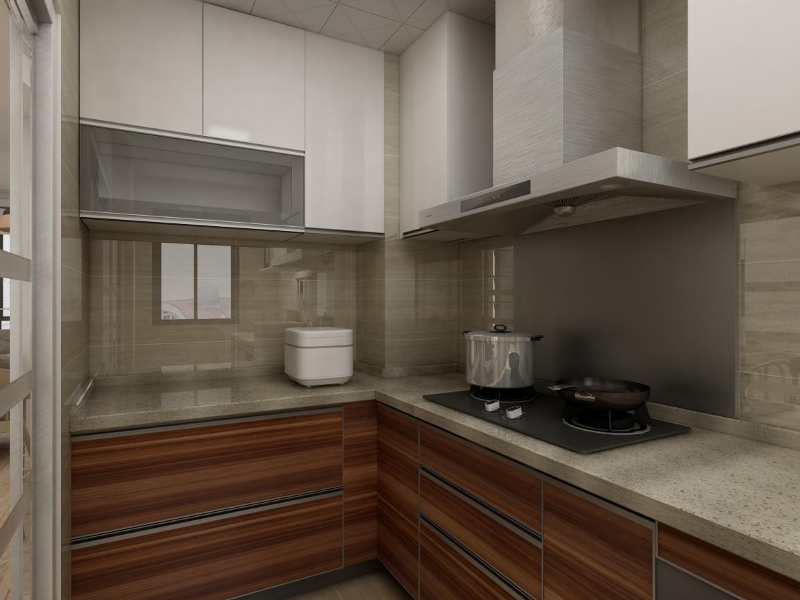 厨房为爱空间标配厨房,满足功能性。