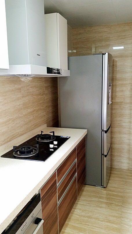 爱空间标配厨房,能够满足人们生活的各种功用。
