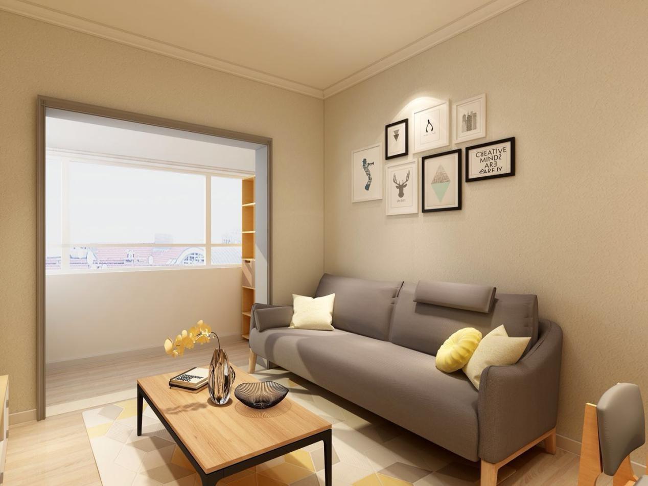 设计师将次卧与阳台打通,室内采光更好,阳台处打造了储物柜收纳日常杂物。