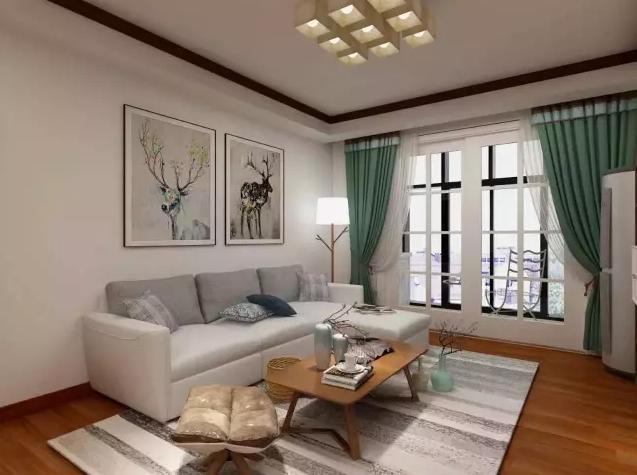 本案设计配色十分清雅,以干净素雅的白灰色为主,温暖的原木色为辅,淡雅的色彩和木质的纹理和谐交融。