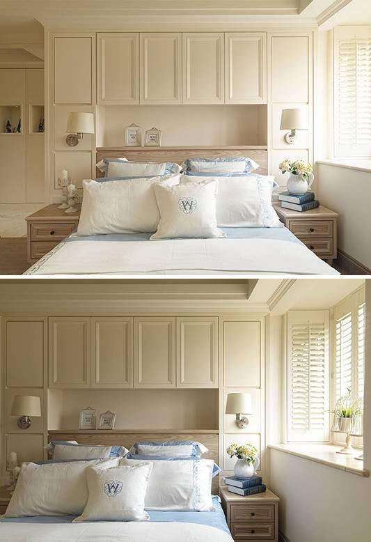 量身定制的床头板与床架,满足外形美观与强大收纳机能的双重需求。