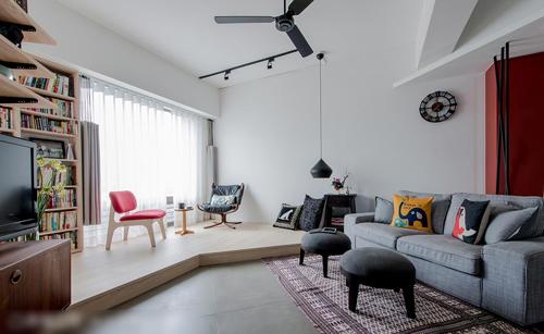 灰色沙发、复古灯具等家居用品不需花过多装修预算,也能通过软装搭配提升质感,妆点出充满个人品味的空间。