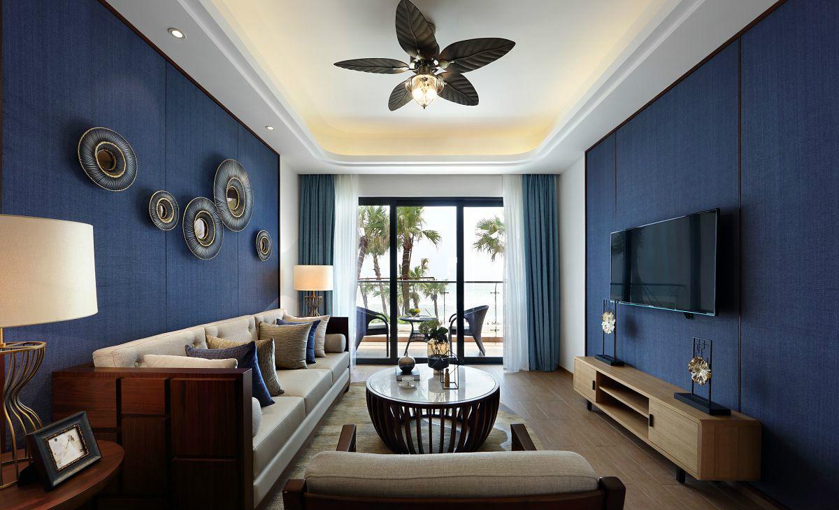 客厅合理的家居色彩搭配,高贵、奢华又不失其温馨、浪漫