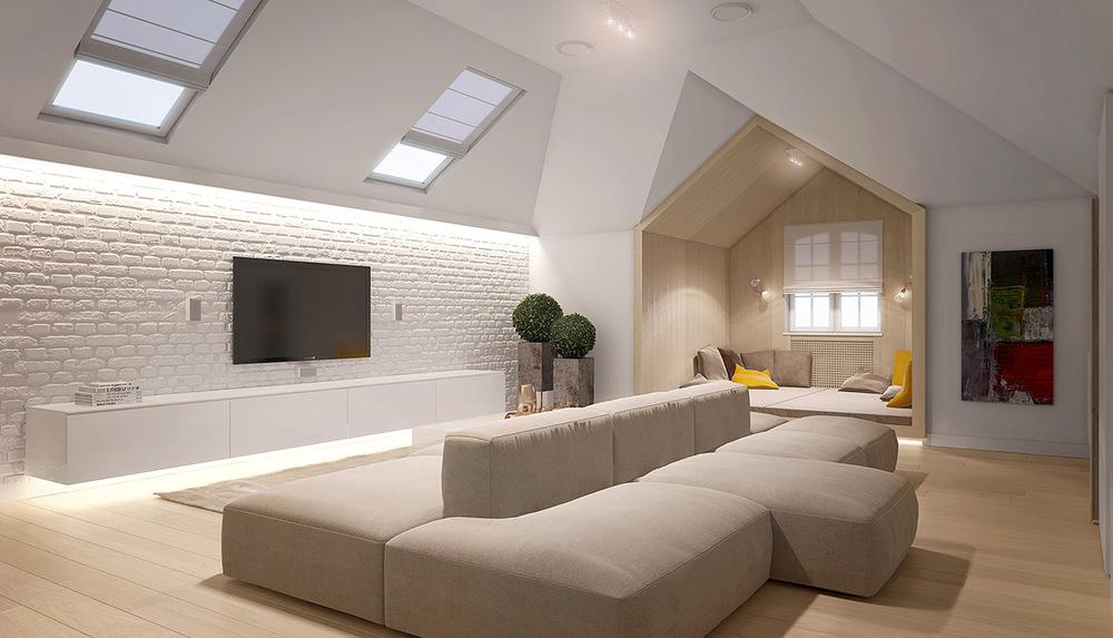 客厅简约而庄重,前卫且经典,整体完美呈现了整个空间的高贵。