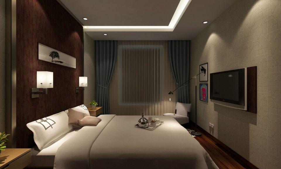 客卧室保持了整体的格调,褪去欧式的奢华,简约舒适,精益求精的细节处理让生活更有品质。