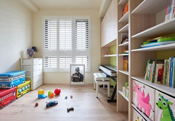 活泼鲜艳的儿童房,设计师让每个人都有专属的天地。