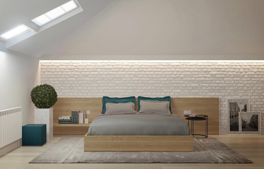 灰白系营造古典的气氛,温雅简约,打造宁静的好眠氛围。