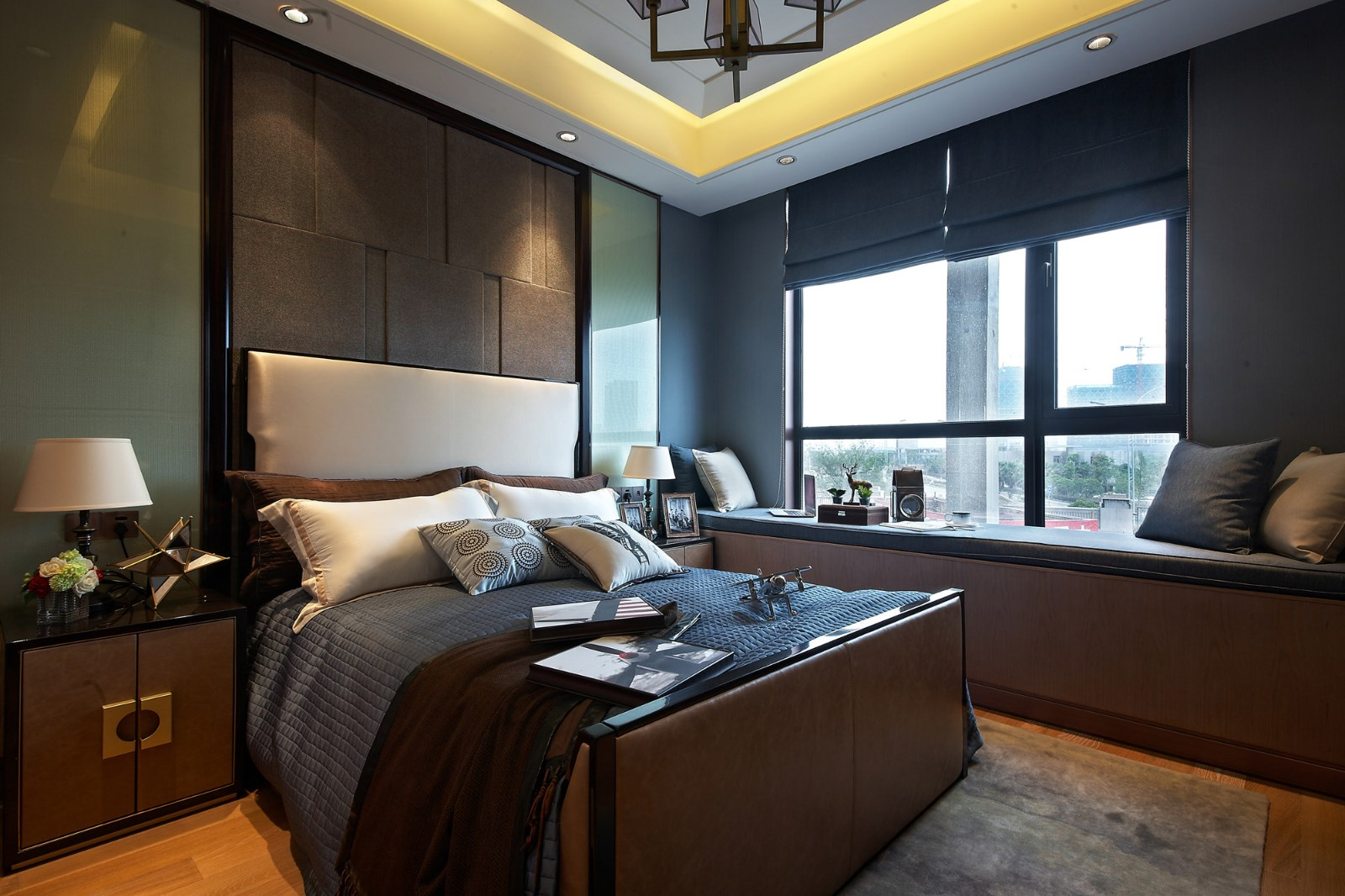 卧室整体设计营造更加轻松、舒适的卧室空间。