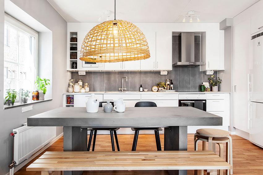 餐厅厨房是一体化的,满足各种常用电器的同时也保留了空间的通透。