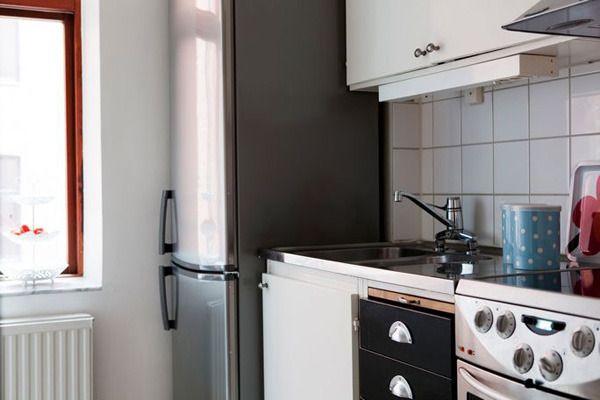 一个人生活也不能马虎,厨房功能一应俱全。相比于更大的厨房也更方便打扫,清洁。