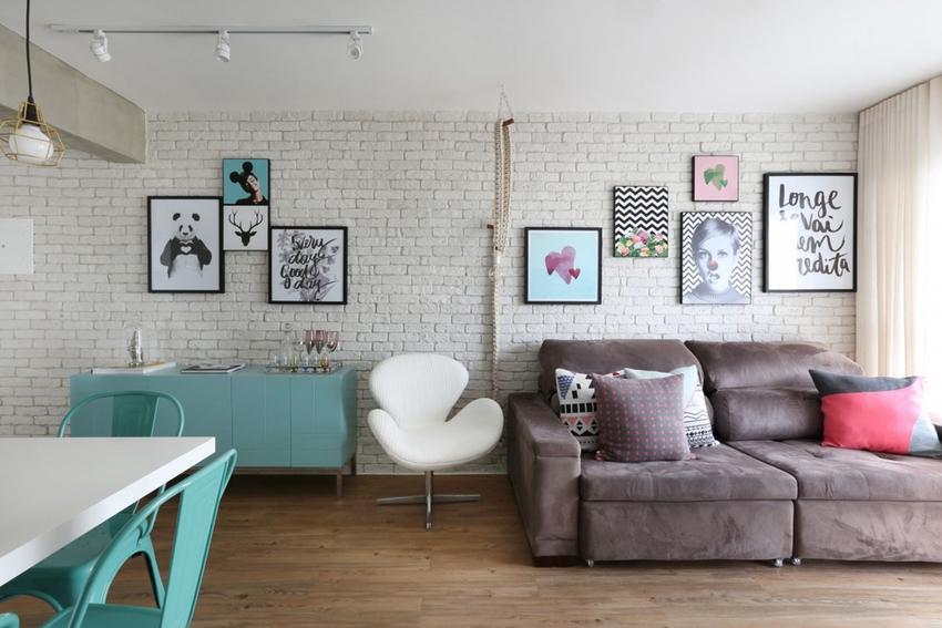 典型的北欧风格墙面,浅色加裸露,墙上可以挂各种画展现自己的个性。