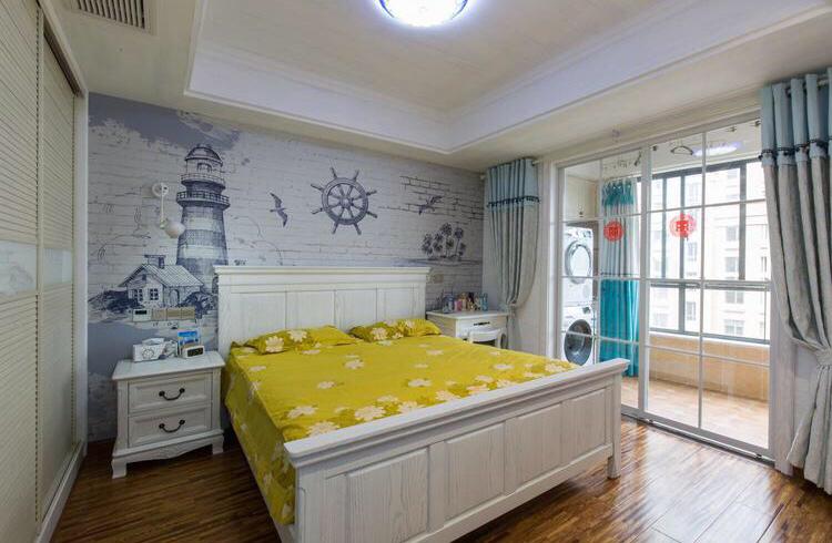卧室整体神似在大海边的海滩上,更好的让业主歇息的场所