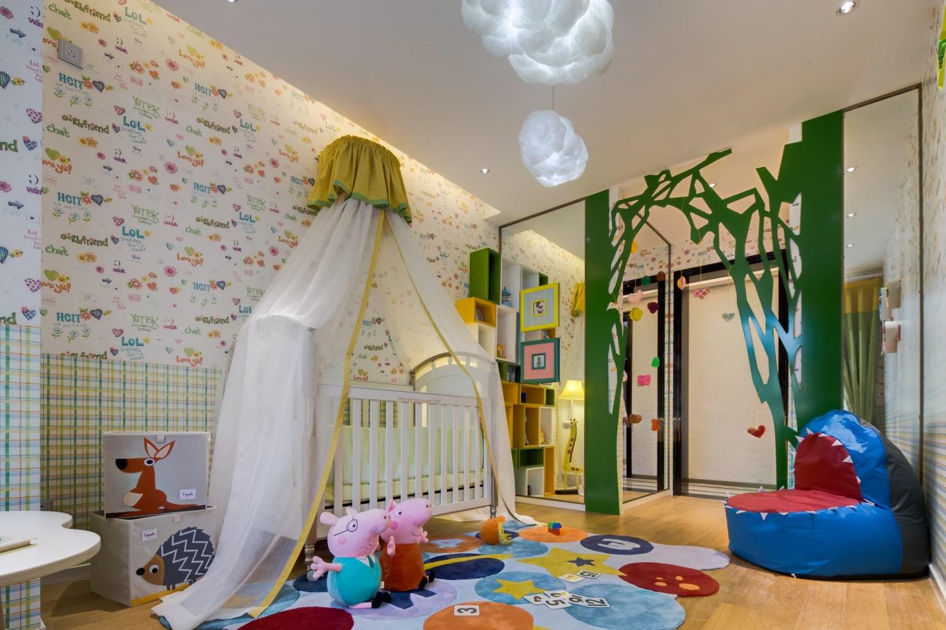 儿童房设计符合现代生活的功能需求,生活氛围更具功能性与实用性。
