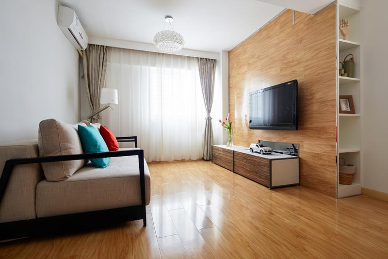 客厅深得现代日式精髓,陈设尽可能的简单,保证屋内的开阔,留出活动空间。
