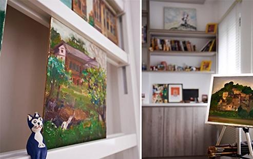 因为屋主为业余画家,所以在机能配置上,也充分考量屋主作画和藏画的需求。