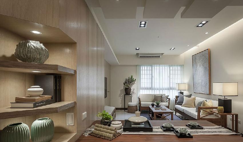 采用开放式的设计,让光线能进入室内,创造明亮宽敞的场域,提升空间放大感。