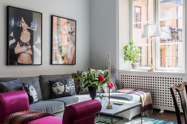 为了保证室内良好的采光,在家具的选择上多以低矮型为主。
