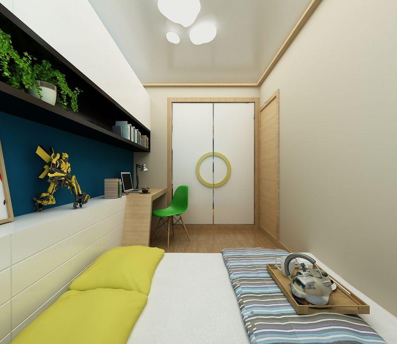 相比于餐厅和客厅,卧室在简洁的基础上多了一些色彩,多了一些趣味。