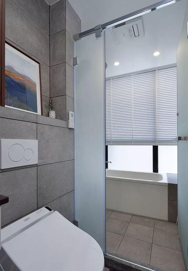 灰色墙地砖,在简约风格的小户型中起重要作用。