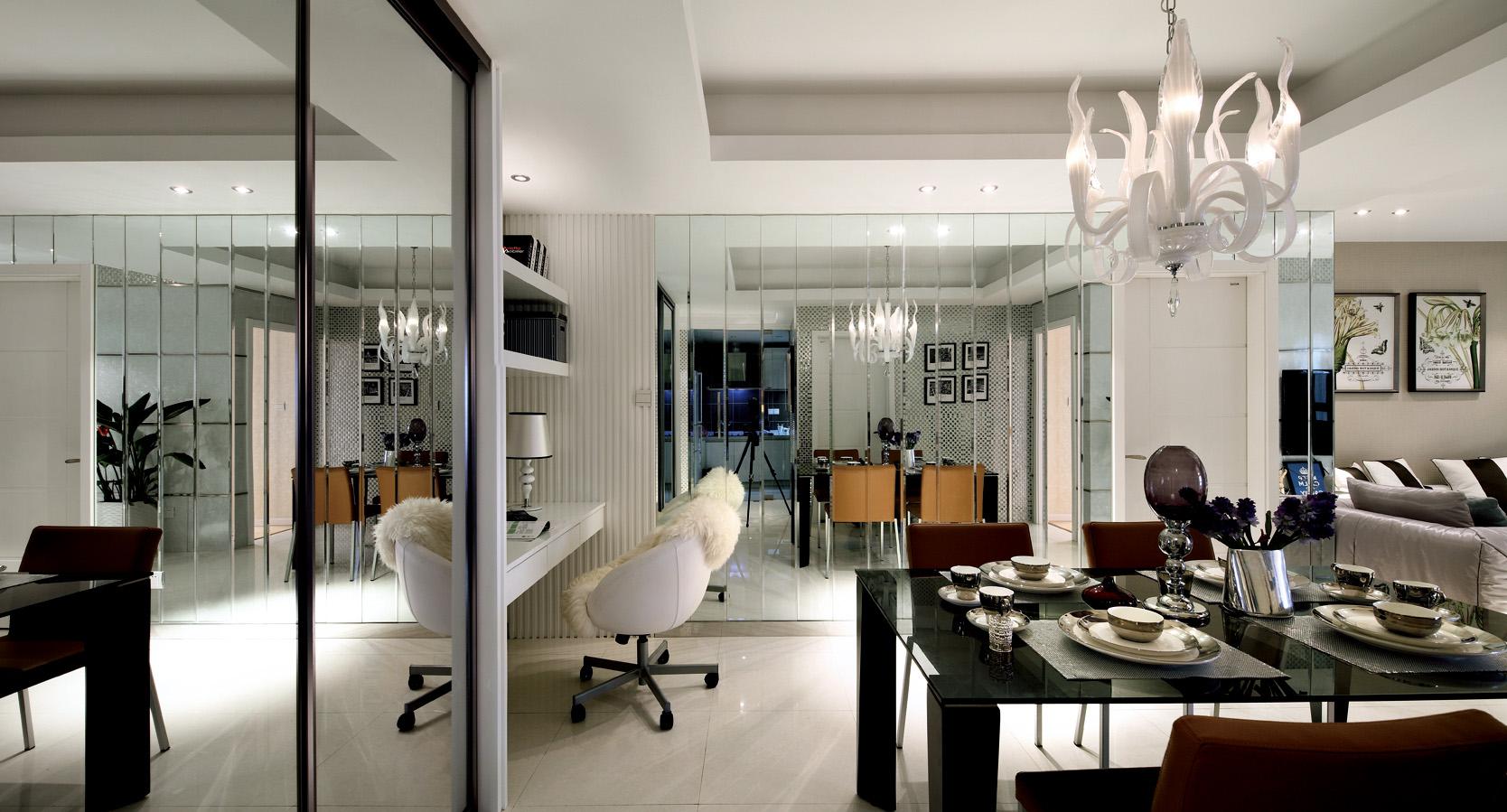 餐厅和客厅是一体式,整个一连串,很好的节约整个空间