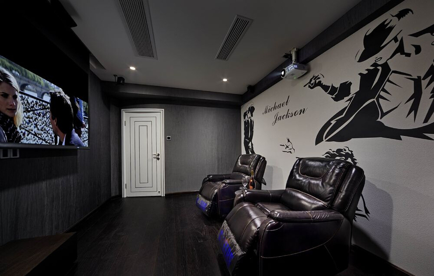视听室是挥洒生活热情的极佳之地。