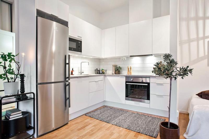 35平米的房子里能有如此功能齐全的厨房,简直不敢想象。