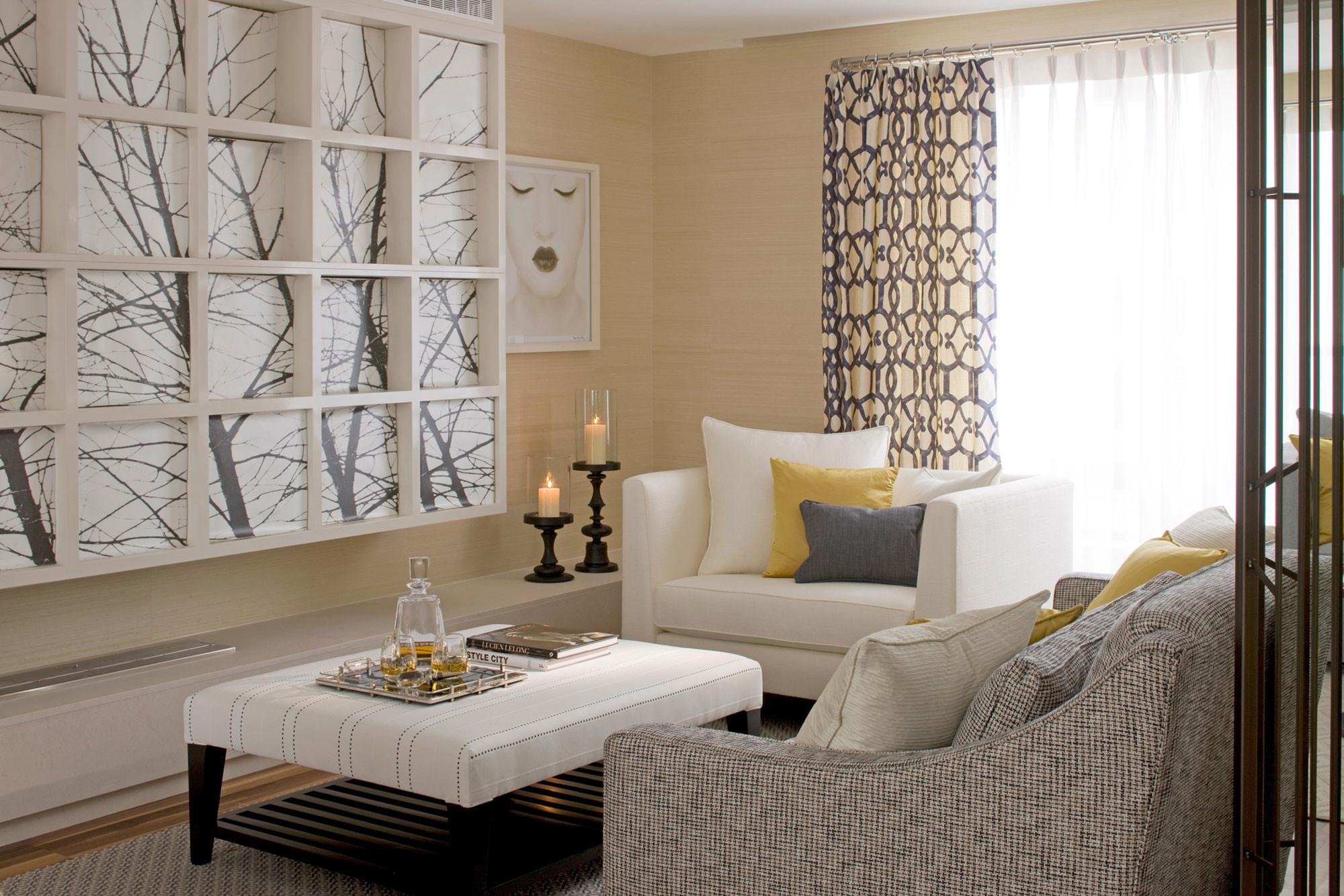 整个客厅营造出来一种不一样的美,实用和装饰都得到了满足