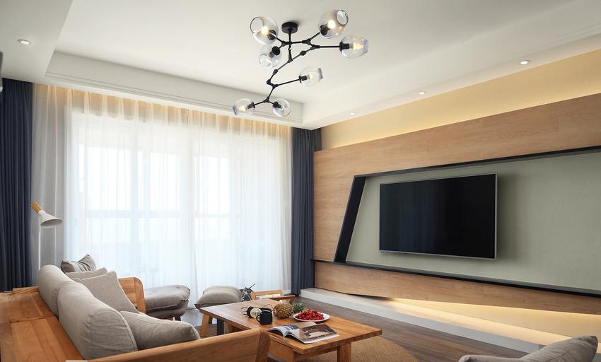 家具的设计延用了白橡色,使整个空间看起来更加自然、大气。