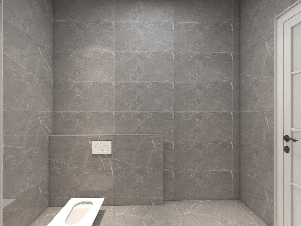 卫生间以灰色为主,沉稳内敛的配色基调,让空间回归于纯粹的舒适与宁静。