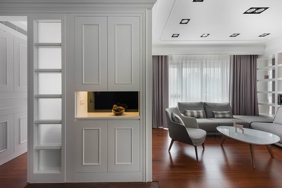 本案在悉心规划下,依照屋主喜好的色调与风格为出发,烘托全室沉静优雅的气韵。