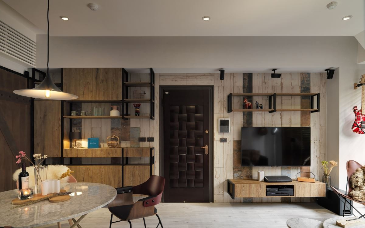客厅与餐厅空间是一体化的,是整个空间更加又层次感。