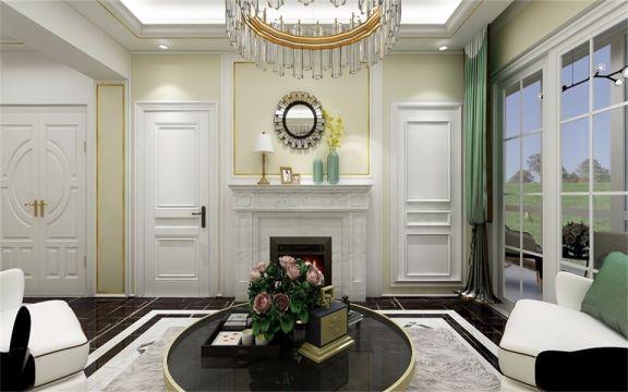 客厅采光非常好,大窗户设计让光线自然流入,视野非常敞亮。