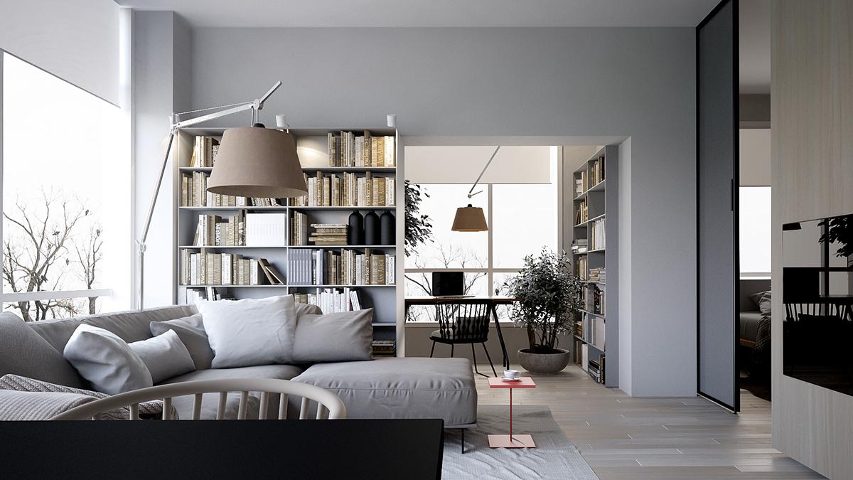 客厅面积不是很大,但通过用心设计与家具摆放相结合,显得客厅明亮且大气宽敞。