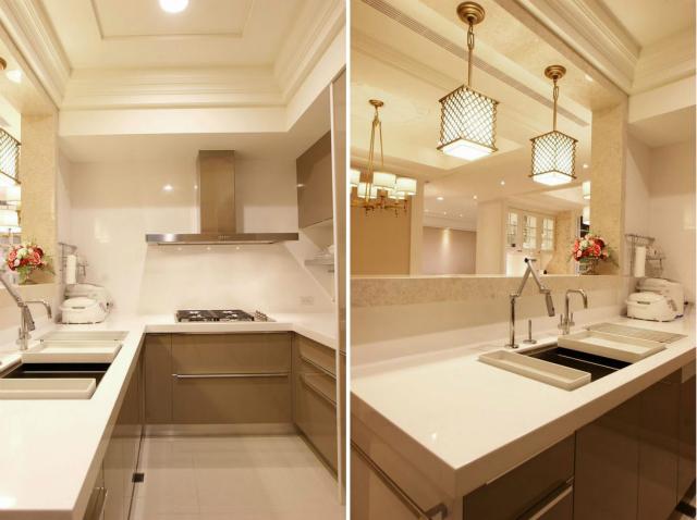 厨房采用了半开放式设计,整体美观且便于交流,让做饭都成为一种享受。