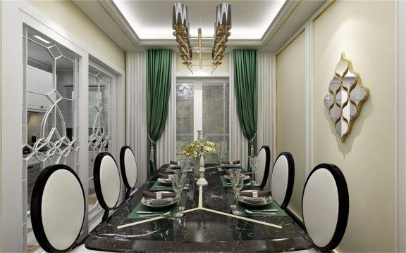 整个空间以素雅之色来表达,时尚与淡雅并存的桌椅设计,给人高贵典雅的视觉享受。