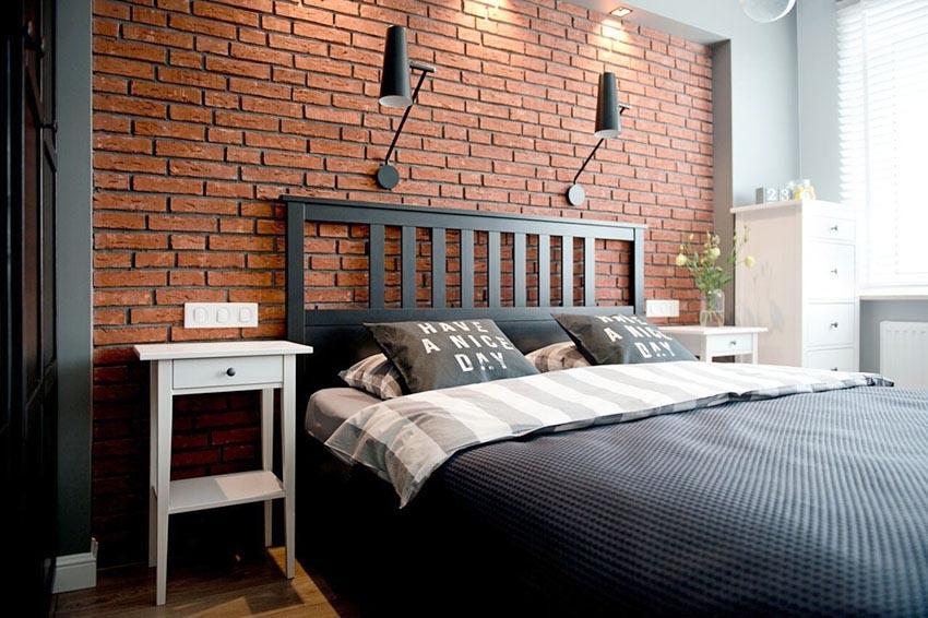 想必小清新风格的公共空间,卧室区域则显得狂野了许多。