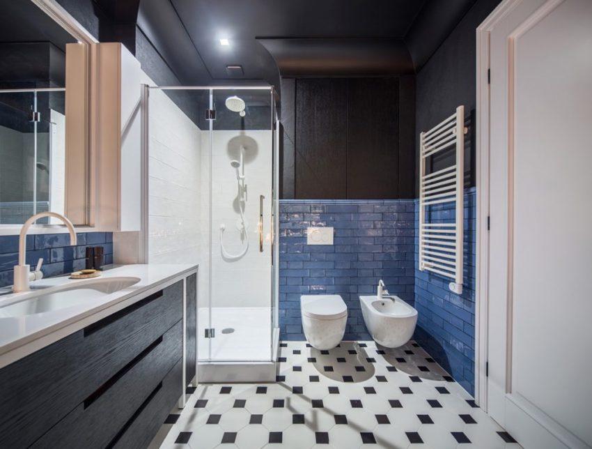 让人最喜欢的还是卫生间,特别是地面黑白斑点的地砖,这种带有复古的味道,一下子就可以把人拉到儿时。