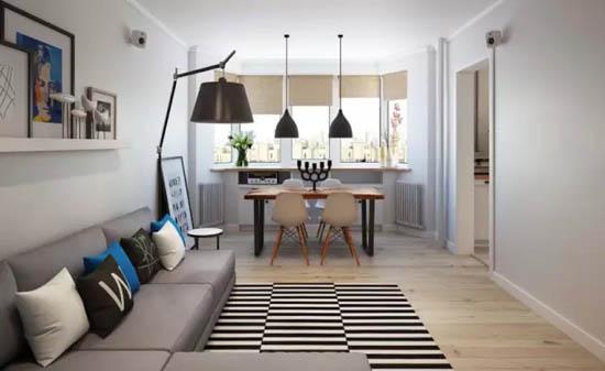 选用了浅色地板和墙面让空间显得更宽敞。