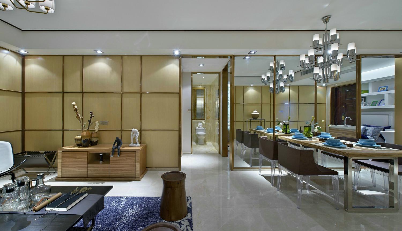 这个角度同事可以看到客厅和餐厅,开放式的更好的拉长空间的视觉