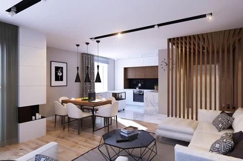 大量的天然建材以及现代风格为设计主轴。