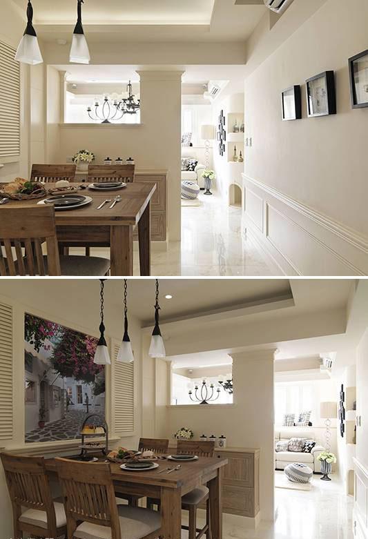 透空墙面设计引入日光明亮餐厅。