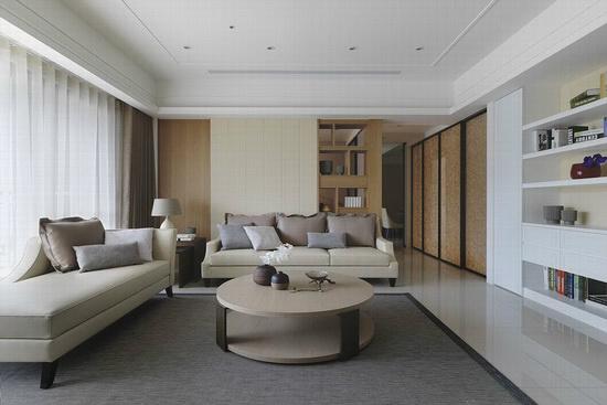 缔造干净的空间基底,天花简化线板语汇、嵌入白色崁灯与天花融为一体,还原纯净况味。