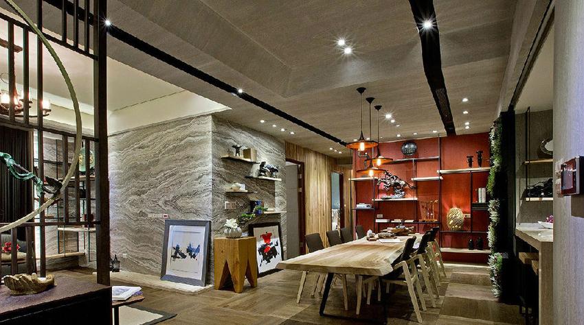 由温润的木质色调,替场域营造出沉稳安定的气息。
