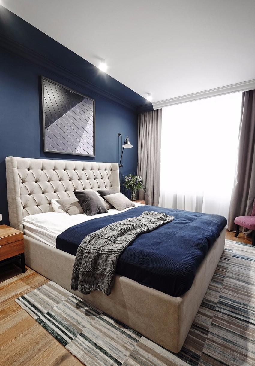 深蓝色的深邃气质,完美衬托出居住者的品位和格调。