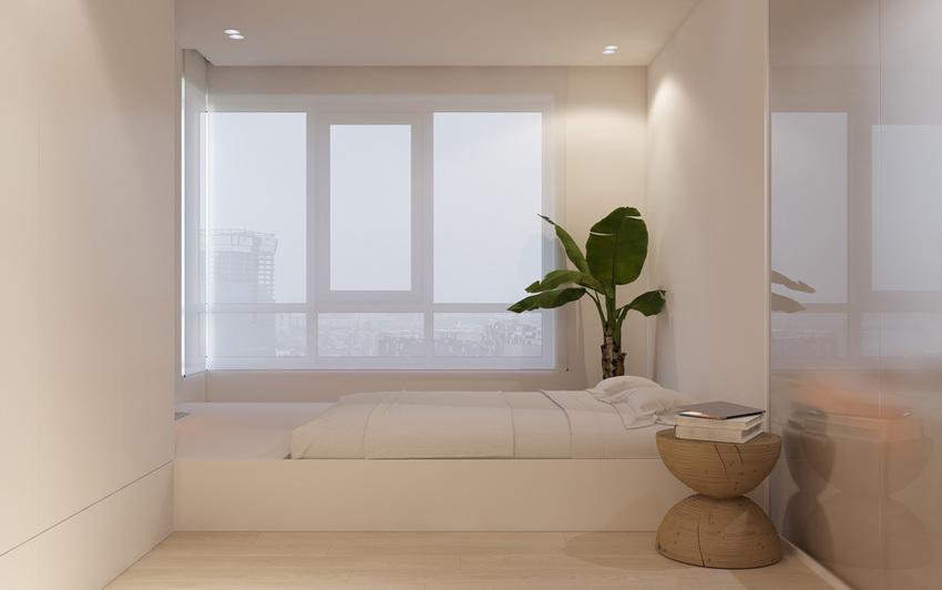 卧室不是很大,但设计和简洁的配色使其看起来更加开放。